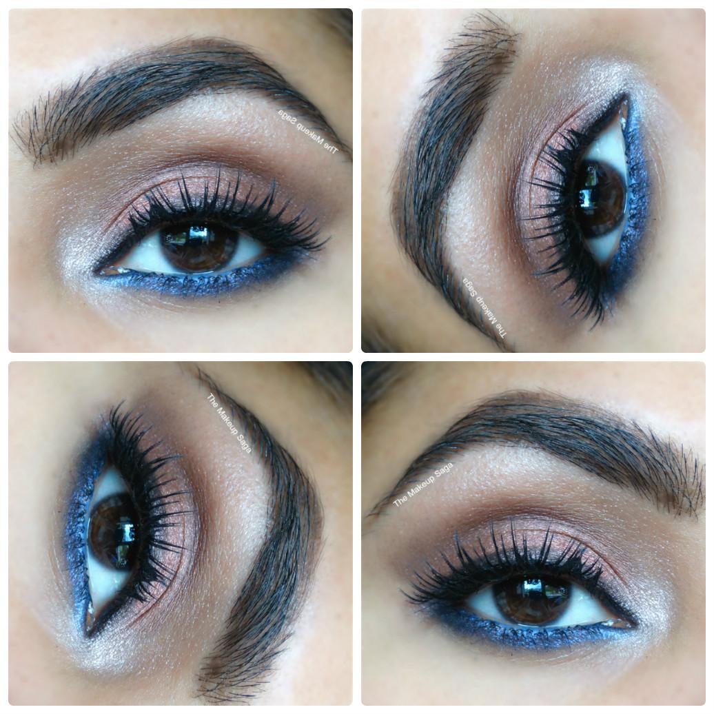 Burgandy And Blue Eye Tutorial The Makeup Saga